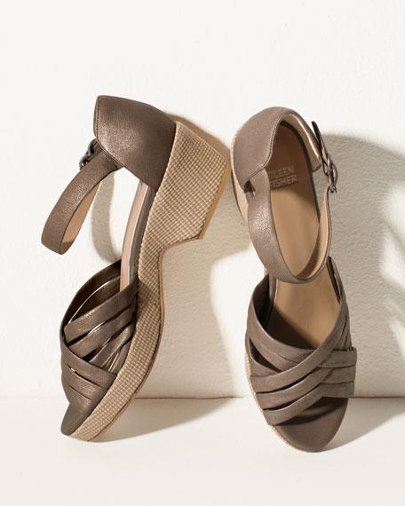 Crisscross Wedge Sandal
