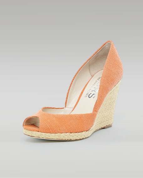 Vail Canvas Wedge, Light Tangerine or Luggage