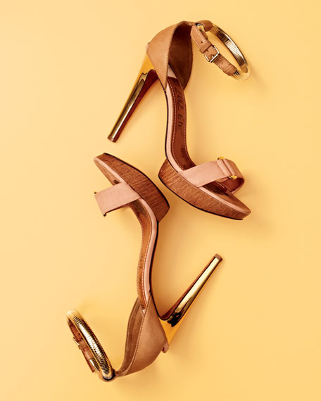 Belted Ankle-Wrap Sandal