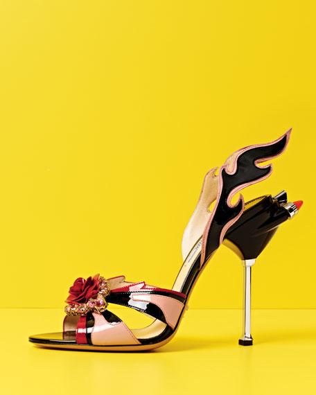 Jewel-Toe Flame Sandal