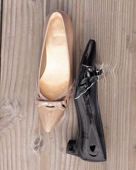 Patent Kitten-Heel Bow Pump