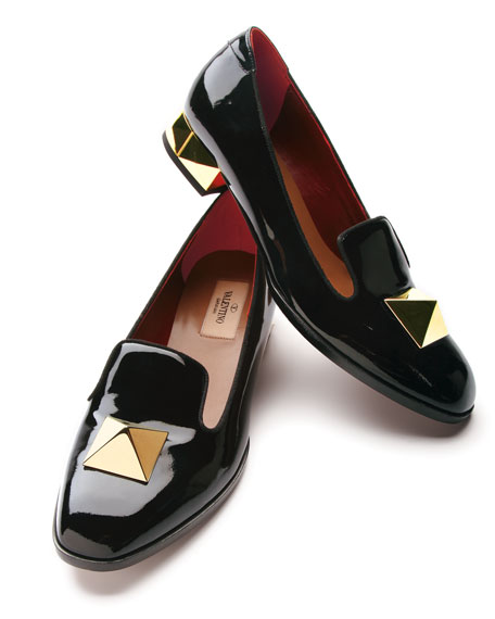 Metal Heel Loafer
