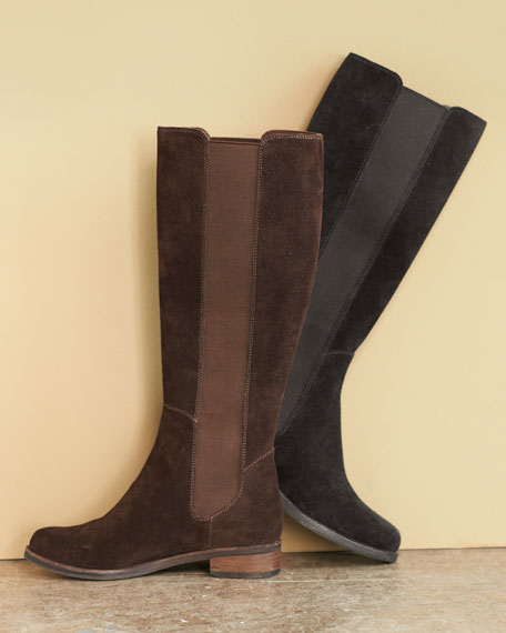 Stretch-Side Knee Boot