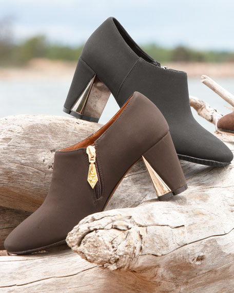 Calla Mirror-Heel Ankle Boot