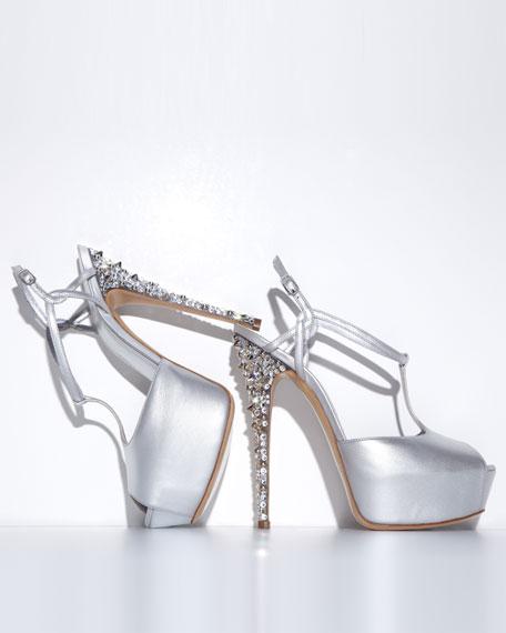 T-Strap Stud-Heel Sandal