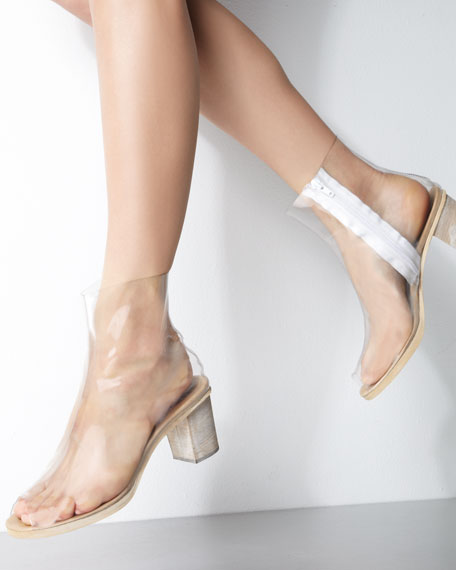 PVC Ankle Boot, Clear