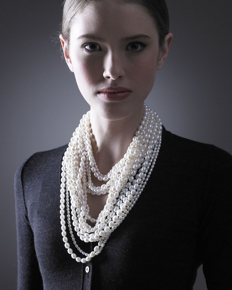16-Strand Pearl Necklace