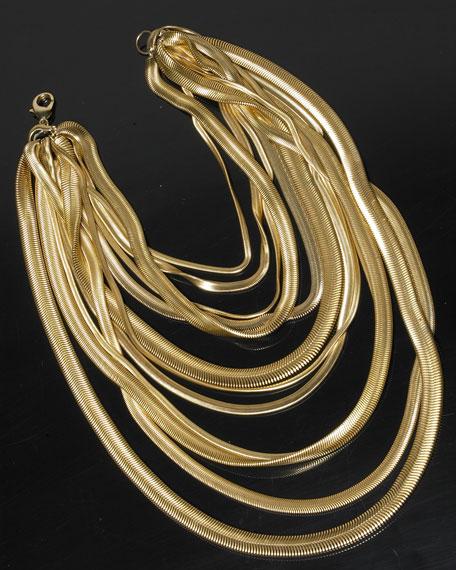 Multi-Strand Snake Chain Necklace