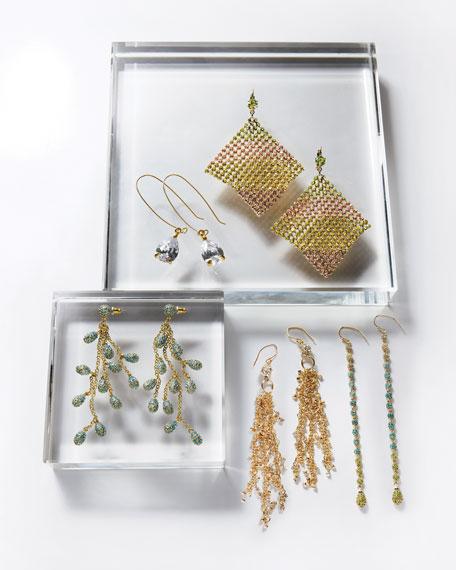 CZ Teardrop Wire Earrings