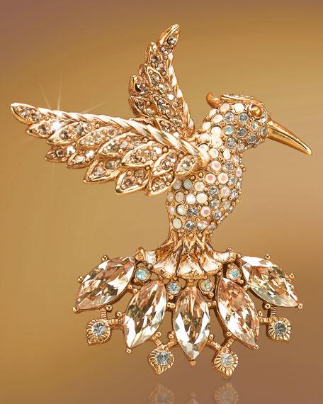"""""""Jada"""" Hummingbird Brooch"""