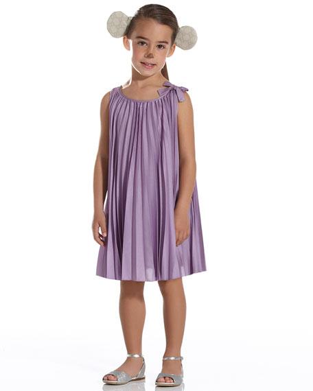 Pleated Silk Dress, Lilac