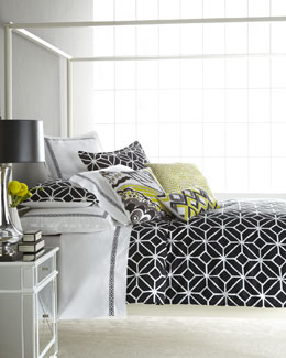 "Trina Turk Black and White ""Trellis"" Bed Linens"