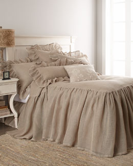 Pine Cone Hill Natural Linen Mesh Bed Linens