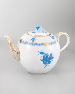 Herend Chinese Bouquet Teapot & Accessories