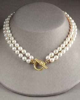 Slane Jewelry Double-Strand Pearl Necklace