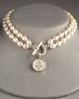 Slane Jewelry Double-Strand Pearl Necklace & Bee Pendant