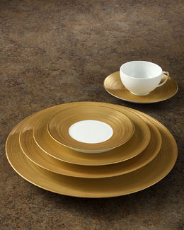 J.L. Coquet Hemisphere Gold Dinnerware