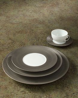 J.L. Coquet Hemisphere Platinum Dinnerware