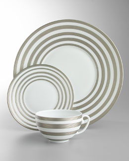 J.L. Coquet Hemisphere Platinum-Stripe Dinnerware