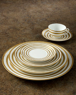 Hemisphere Gold-Stripe Dinnerware
