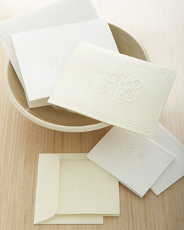 Embossed Foldover Notes & Gift Enclosures w/ Envelopes