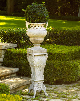 """French"" Urn Planter & Pedestal"