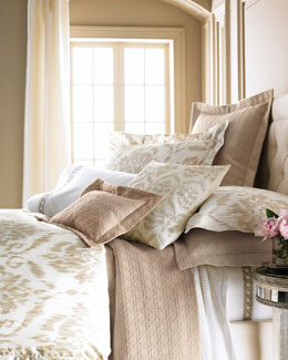 "SFERRA ""Ikat"" Bed Linens & ""Cane"" Sheeting"