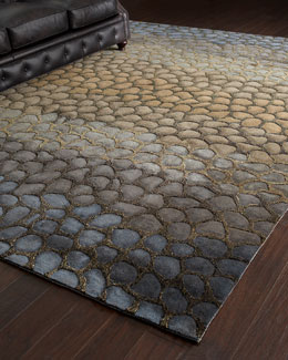 """Jaded Pebbles"" Rug"