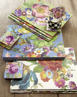 """Flower Market"" Placemats & Coasters"