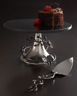 "Michael Aram ""Black Orchid"" Cake Stand & Server"