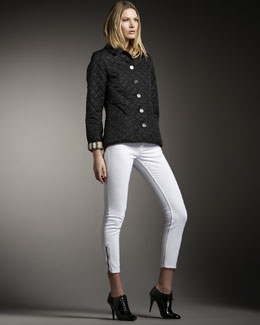 Burberry Brit Quilted Jacket & Zip-Cuff Jeans