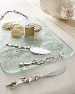 "Michael Aram ""Ocean Coral"" Cheese Board & Spreaders"
