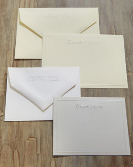 Embossed Card Ensembles