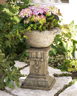 GG Collection Aged Granite Planter & Pedestal