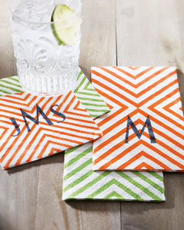 Caspari Chevron Napkins & Buffet Napkins/Guest Towels