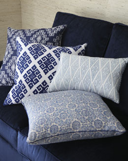 John Robshaw Blue and White Pillows