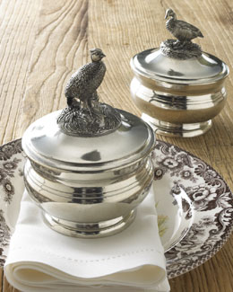 Vagabond House Covered Pewter Bowls