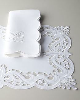 Fleur-de-Lis Cutwork Table Linens