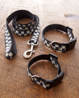 "MacKenzie-Childs ""Courtly Check"" Pet Collar & Leash"