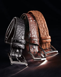 W.Kleinberg Glazed Alligator Belt
