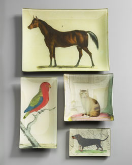 John Derian Animal Decoupage Trays