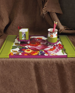 "MacKenzie-Childs ""Flower Market"" Desk Accessories"