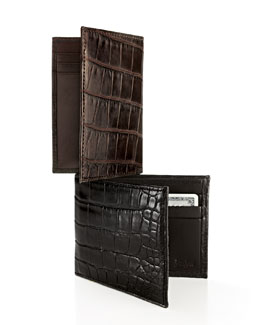 Neiman Marcus Alligator Wallet & Card Holder