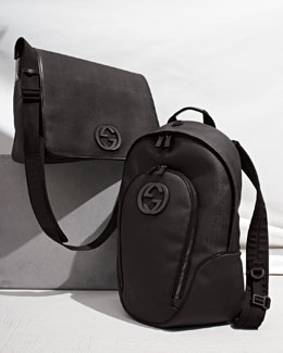 Gucci Coated Fabric Messenger Bag & Viaggio Calfskin Backpack