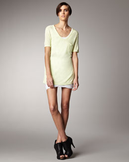 T by Alexander Wang Pocket Tee, Fitted Camisole & Ruched Jersey Miniskirt