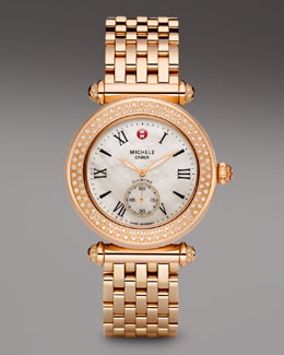 Michele Caber Diamond Watch, Rose Gold