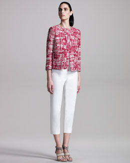 Piazza Sempione Printed Jacket & Easy-Fit Capris