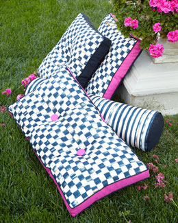 MacKenzie-Childs Courtly Check & Courtly Stripe Outdoor Accent Pillows
