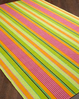 "Dash & Albert Rug Company ""Summer Stripe"" Flatweave Rug"