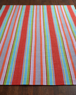 "Dash & Albert Rug Company ""Marcy Stripe"" Flatweave Rug"